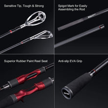 Load image into Gallery viewer, Warrior Casting/Spinning Rod, Carbon Layer, 4-Piece, M/MH Power, Fast Action - GOTURE