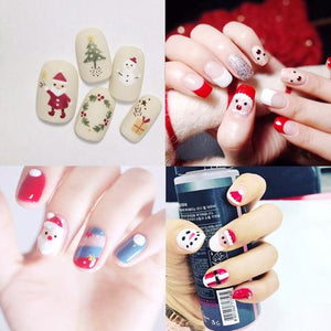 Christmas cute nail art design, awesome nail art onto your hands