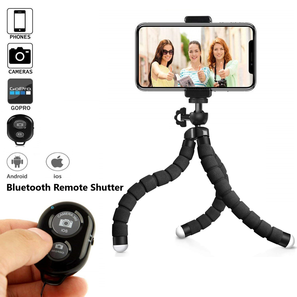 Flexible Phone Tripod With  Bluetooth Remote Shutter[Special Offer]