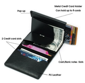 C-Secure RFID Flip Up Card Holder Flip Up Wallet RFID Wallet 100/% Satisfaction