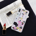 【HOT SALE! 】Suitable for all iPhone hard lipstick perfume bottles dynamic liquid phone case