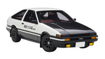 AE86 right-hand drive initial D project D final version 1/16 model car