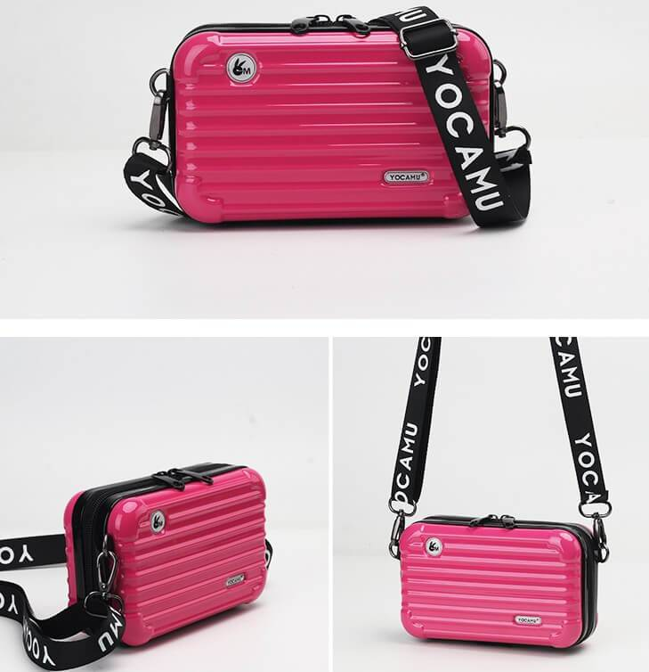 Female Square Suitcase Shape Handbag