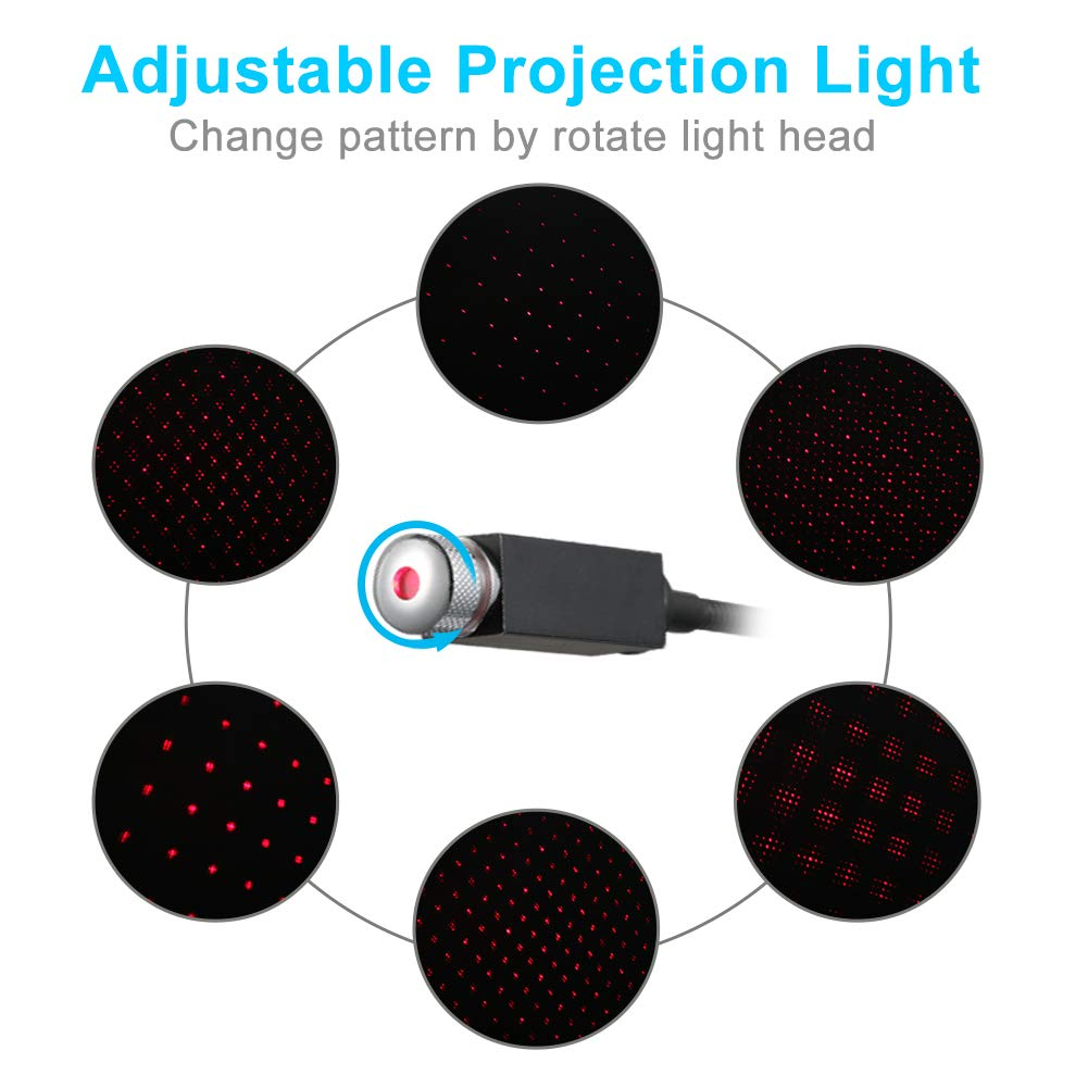 Mini LED Ambient Star Light for car roof