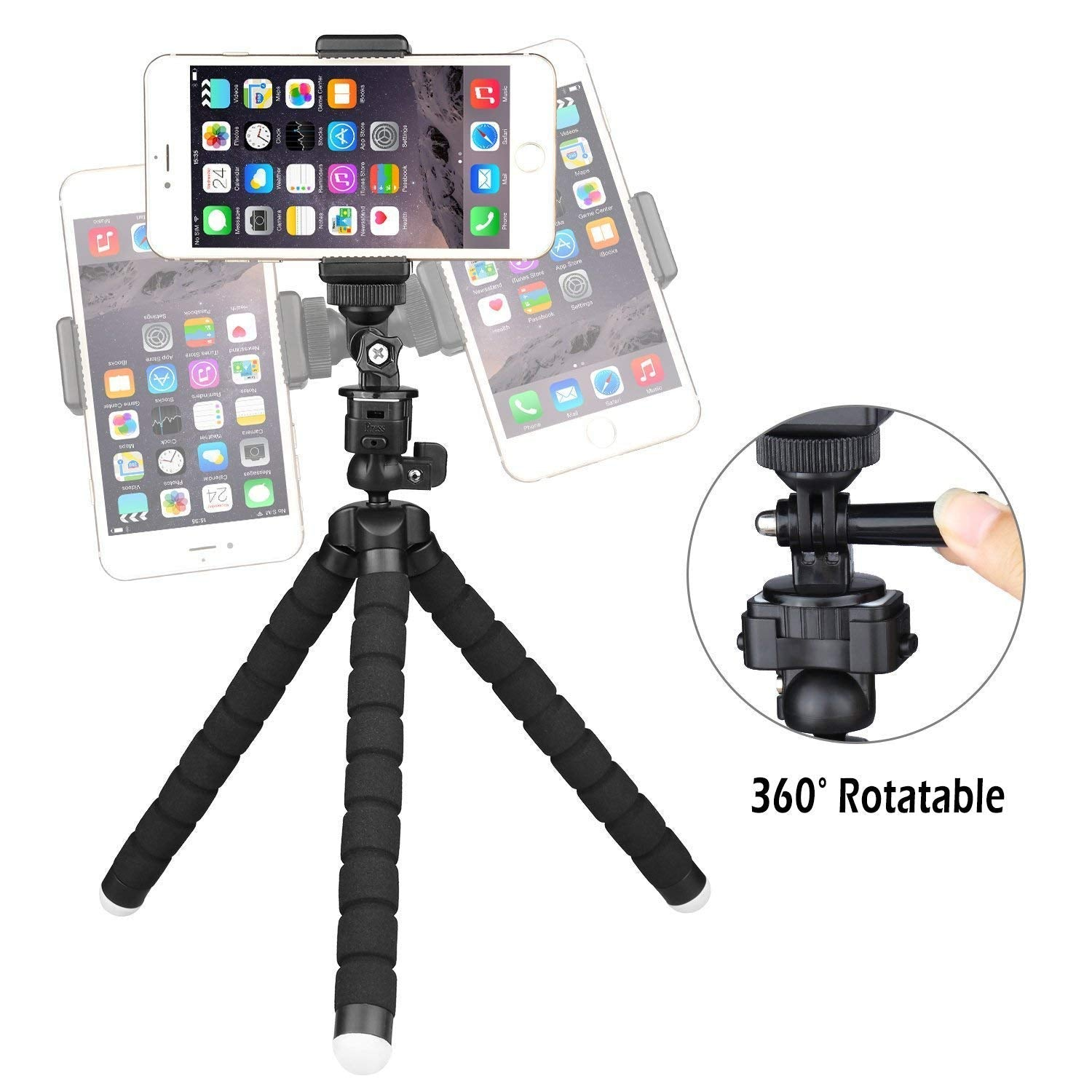 Flexible Phone Tripod With Bluetooth Remote Shutter[Special