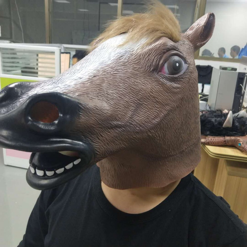 Halloween Unicorn Horse Latex Mask