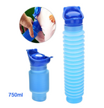 Emergency Urinal,Portable Mini Outdoor Camping Travel Shrinkable Personal Mobile Toilet(750 ML)