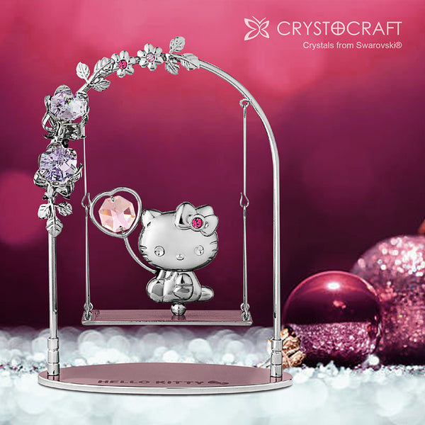 Hello Kitty Crystal Swing Figurine | Crystocraft Online Shop