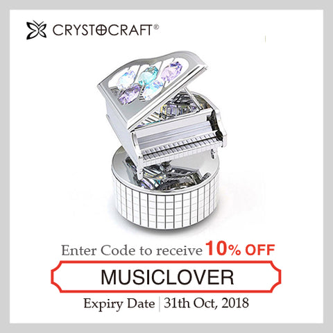 Music Lover coupon - Piano | Crystocraft Online Shop