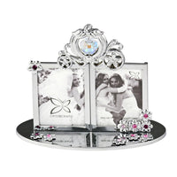 Photo Frame - Crystal Wedding Carriage Photo Frame 1R Double Standard | Crystocraft Online Shop