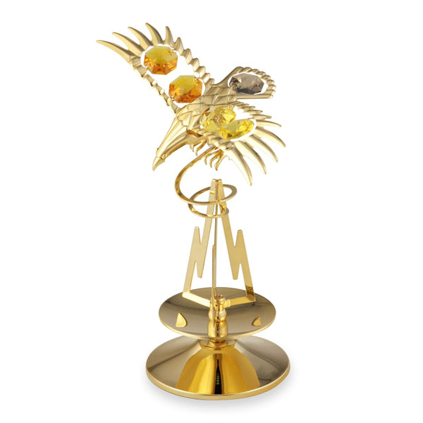 Table Deco - Crystal Eagle on Mountain Figurine Standard | Crystocraft Online Shop