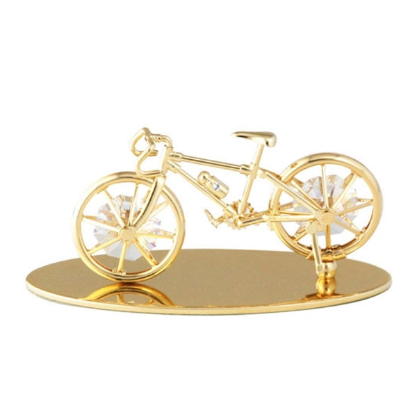 Table Deco - Bicycle Crystal Figurine Gold / Standard | Crystocraft Online Shop