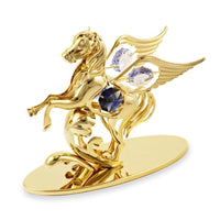 Table Deco - Pegasus Crystal Figurine Gold / Standard | Crystocraft Online Shop