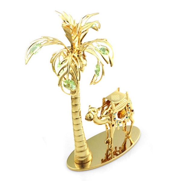 Table Deco - Crystal Camel & Palm Tree Figurine Standard | Crystocraft Online Shop
