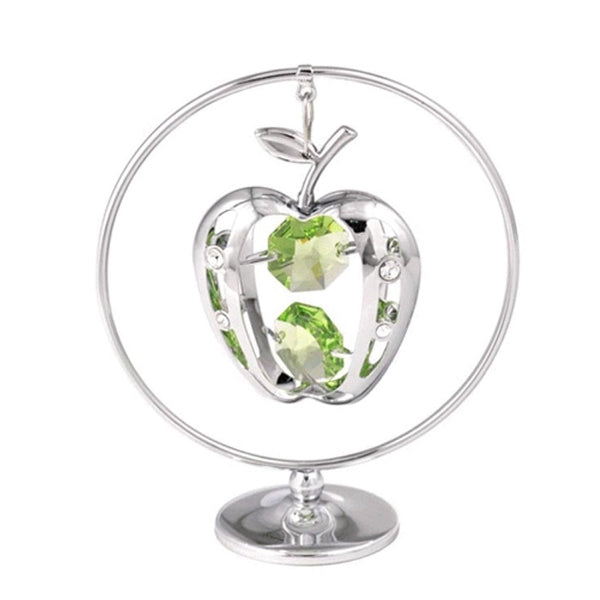 Table Deco - Apple Crystal Figurine Standard / Chrome | Crystocraft Online Shop