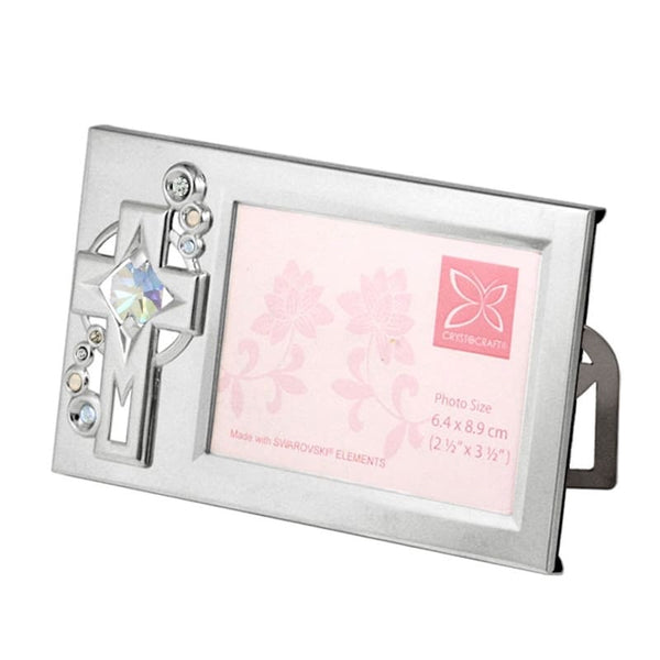 Table Deco - Cross Crystal Photo Frame 2R Standard | Crystocraft Online Shop