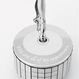 Music Box - Crystal Ballerina Music Box Mini Engrave / Chrome | Crystocraft Online Shop
