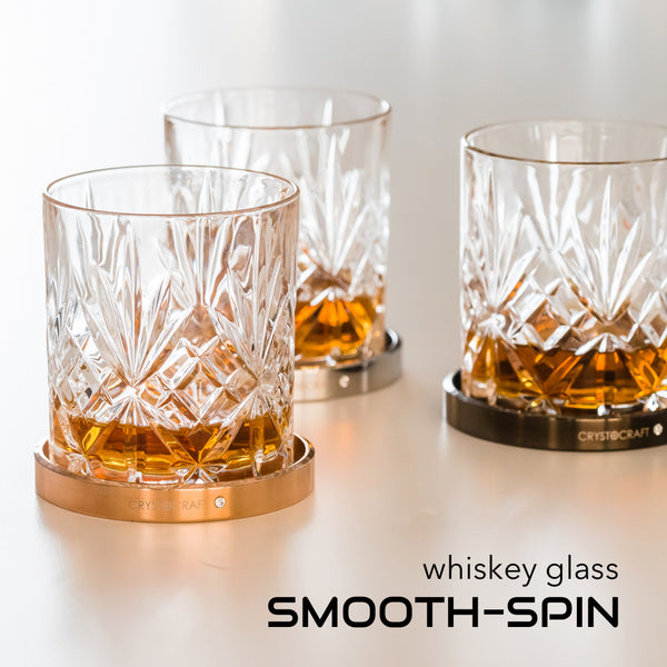 Table Deco - SMOOTH-SPIN Whiskey Glass  | Crystocraft Online Shop