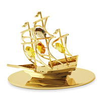 Table Deco - Sailboat Figurine Gold | Crystocraft Online Shop