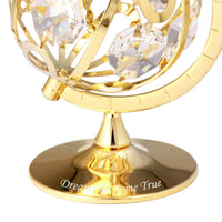 Table Deco - Spinning Globe Crystal Figurine  | Crystocraft Online Shop