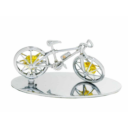Table Deco - Bicycle Crystal Figurine Chrome / Standard | Crystocraft Online Shop