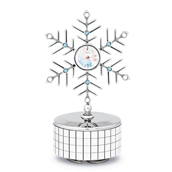 Music Box - Swarovski Crystal Snowflake Music Box Mini Standard | Crystocraft Online Shop