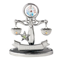 Zodiac - Zodiac Libra Crystal Figurine Standard / Chrome | Crystocraft Online Shop
