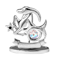 Zodiac - Zodiac Capricorn Crystal Figurine Standard / Chrome | Crystocraft Online Shop