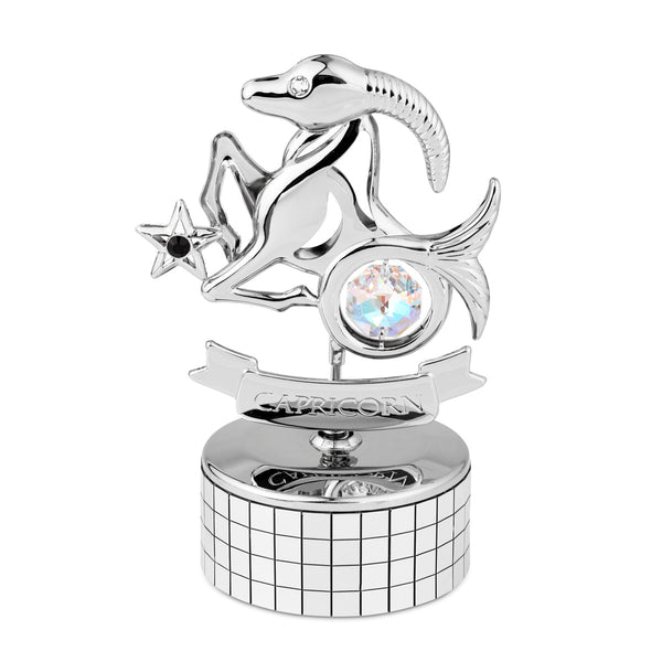Zodiac - Zodiac Capricorn Crystal Music Box Mini Standard | Crystocraft Online Shop
