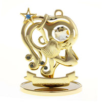 Zodiac - Zodiac Aquarius Crystal Figurine Standard / Gold | Crystocraft Online Shop