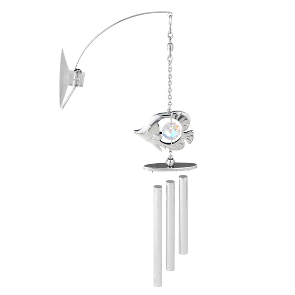 wind chime - Tropical Fish Crystal Wind Chime Chrome | Crystocraft Online Shop