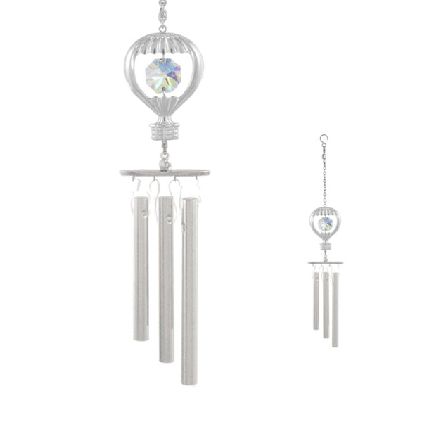 wind chime - Hot Air Balloon Crystal Wind Chime Chrome | Crystocraft Online Shop