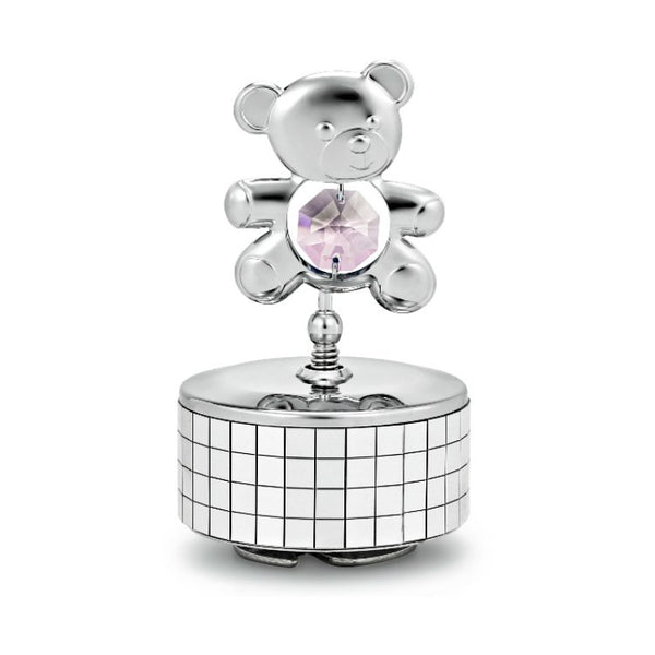 Music Box - Teddy Bear Crystal Music Box Standard / Pink | Crystocraft Online Shop