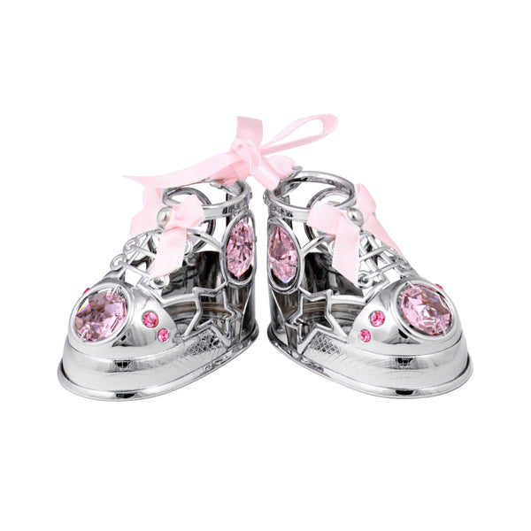 Table Deco - Baby Shoes Crystal Figurine  | Crystocraft Online Shop