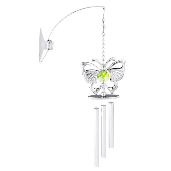wind chime - Emperor Butterfly Crystal Wind Chime Chrome | Crystocraft Online Shop