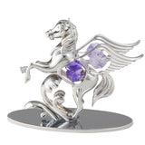 Table Deco - Pegasus Crystal Figurine Chrome / Standard | Crystocraft Online Shop