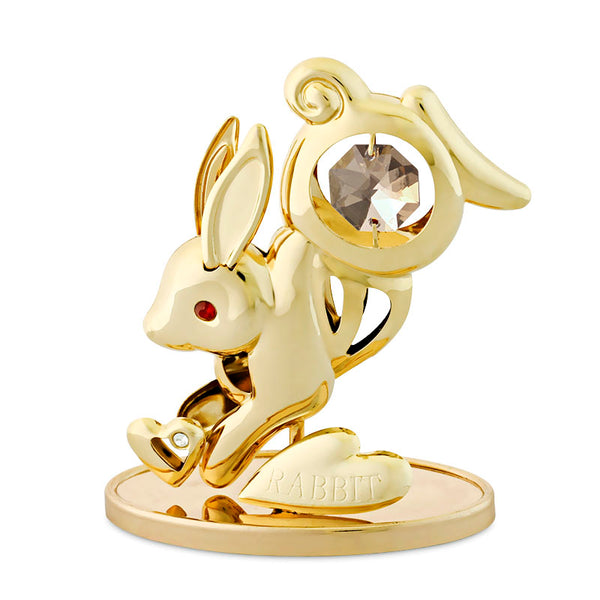 Table Deco - Chinese Zodiac Rabbit Crystal Figurine Standard | Crystocraft Online Shop