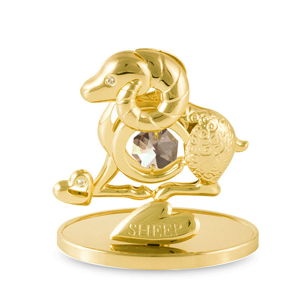 Table Deco - Chinese Zodiac Sheep Crystal Figurine Standard | Crystocraft Online Shop
