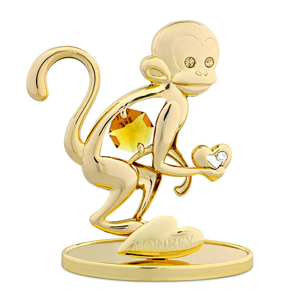 Table Deco - Chinese Zodiac Monkey Crystal Figurine Standard | Crystocraft Online Shop