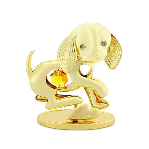 Table Deco - Chinese Zodiac Dog Crystal Figurine Standard | Crystocraft Online Shop