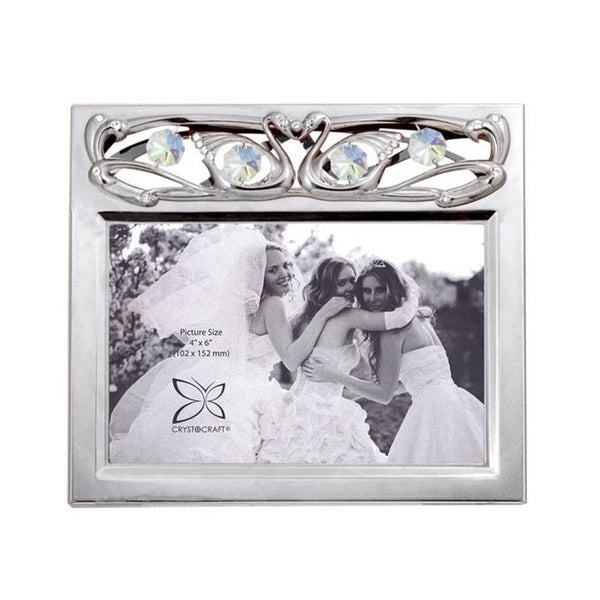 Kissing Swans 4R Picture Frame – Crystocraft Online Shop