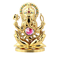 Table Deco - Lord Ganesha Ganapati Crystal Spiritual Figurine Standard | Crystocraft Online Shop