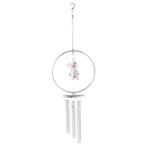 wind chime - Tear Bear Mini Dangling Crystal Wind Chime Chrome | Crystocraft Online Shop