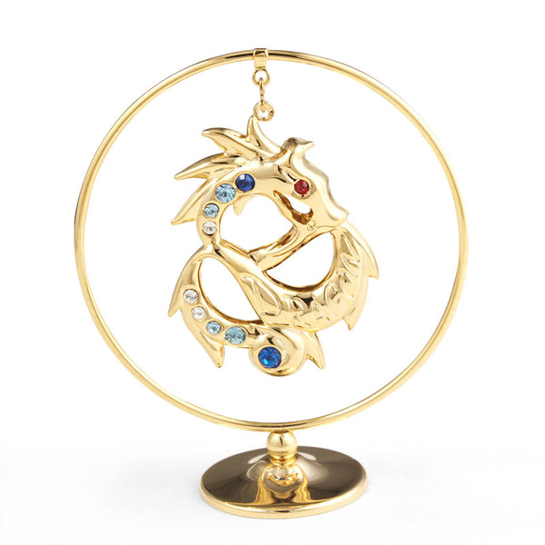 Table Deco - Cute Chinese Zodiac Dragon Crystal Dangling Figurine Standard | Crystocraft Online Shop