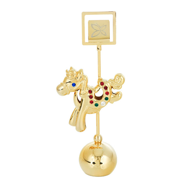 Table Deco - Cute Chinese Zodiac Horse Crystal Paperweight Card and Photo Holder Standard | Crystocraft Online Shop