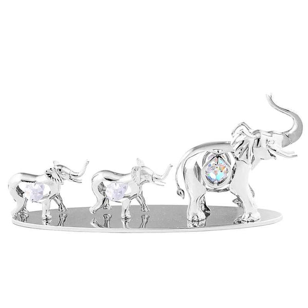 Table Deco - Elephant Baby Family Crystal Figurine Standard | Crystocraft Online Shop