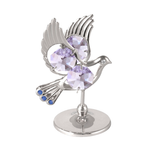 Table Deco - Dove Crystal Figurine Standard / Chrome | Crystocraft Online Shop