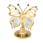 Table Deco - Angelwing Butterfly Crystal Figurine Gold / Standard | Crystocraft Online Shop