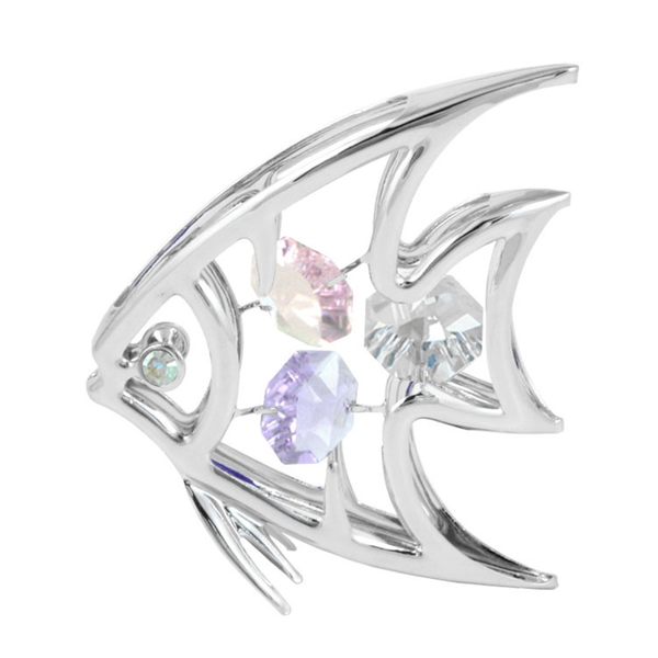 Table Deco - Angel Fish Crystal Figurine Chrome | Crystocraft Online Shop