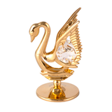 Table Deco - Mini Crystal Swan Figurine Gold / Standard | Crystocraft Online Shop